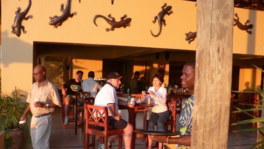 Guests at Chobe Safari Lodge