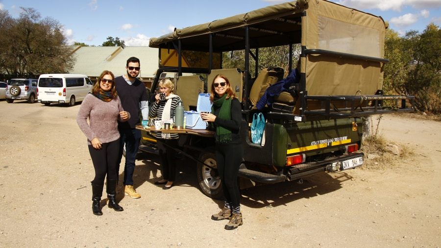 Guests two days on a full day game drive