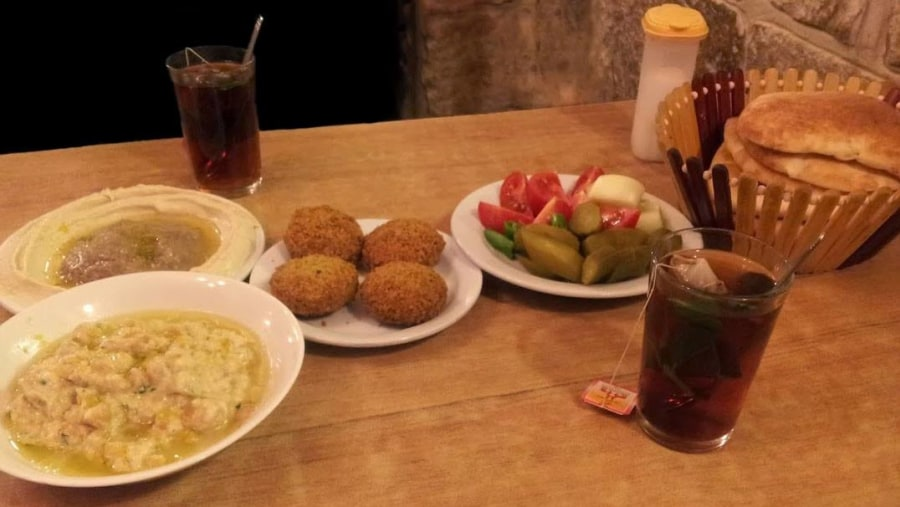 Falafel Food in Afteem Restaurant