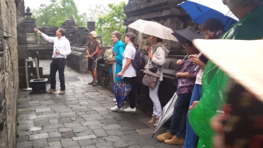 Eplain about karma doctrin cover at bass relieff at Borobudur temple