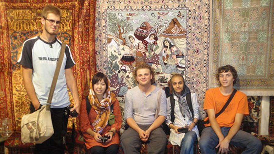 in a carpet shop