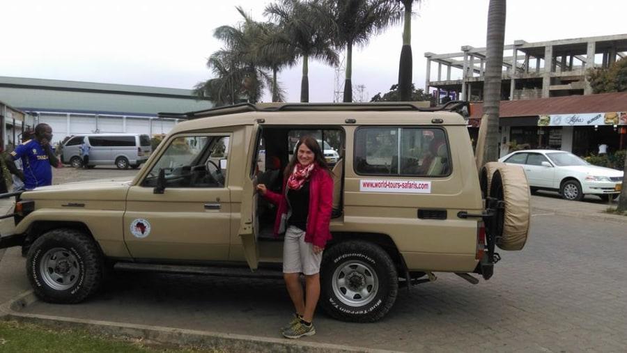 Birgit from Austria ready for her safari