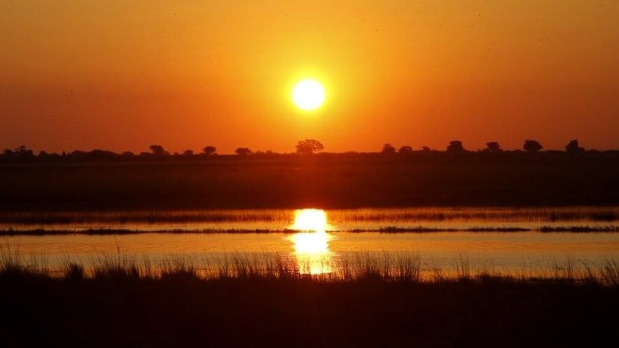 sunset in chobe