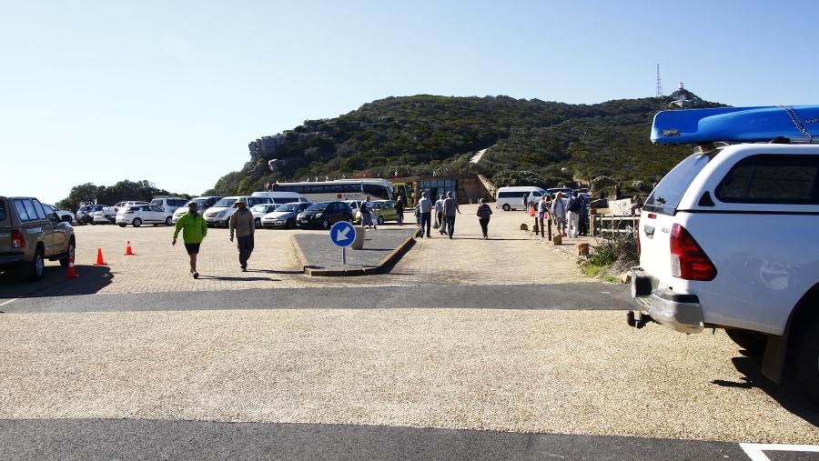 Tourists visit Cape Point