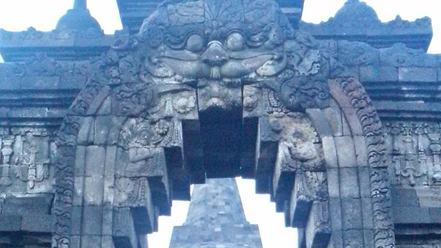 7th floor from nort gate at Borobudur temple