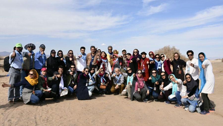 gathering the tourist guides on Zavareh