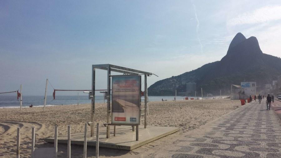Leblon beach and Morro Dois Irmãos