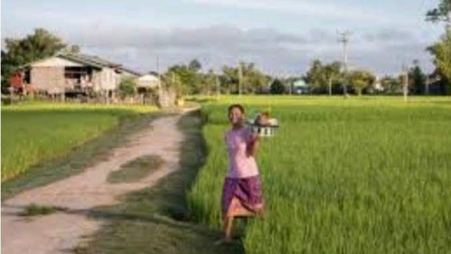 Outside Mamallapuram village
