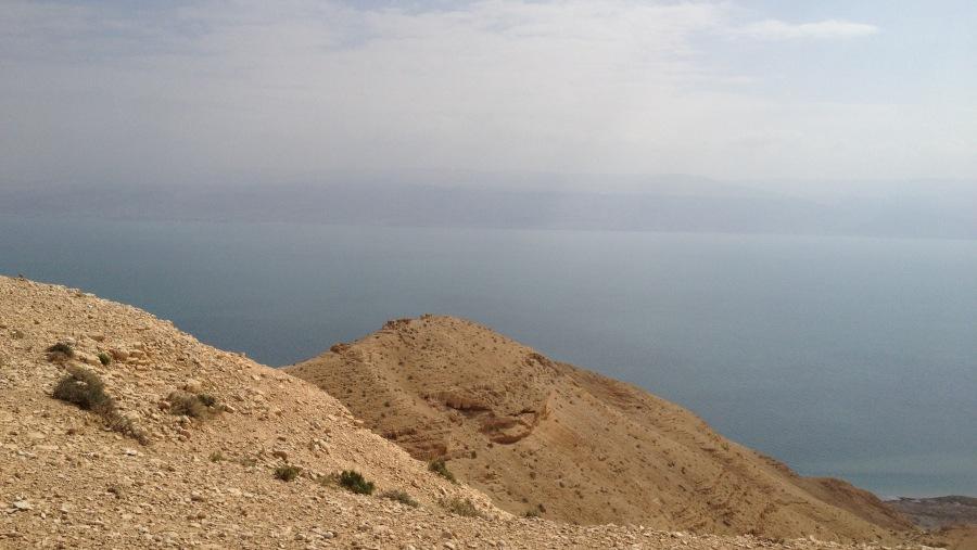Judean desert & Dead sea near Jerusalem