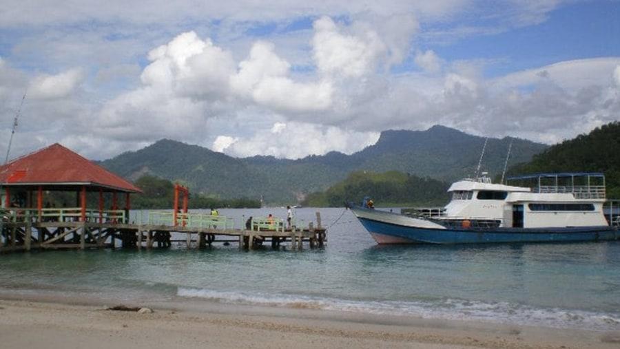 Harbour at Sikuai Island, still exist we can still use it till now