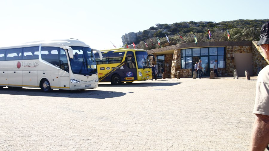 Tourists visiting Cape Point