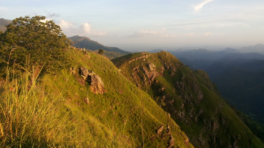 Sun set at Little Adams Peak