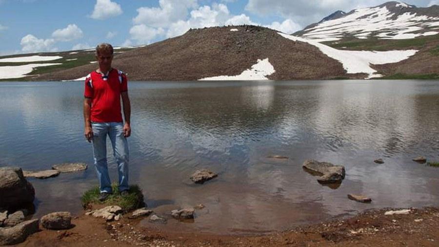 Stone lake on Aragats