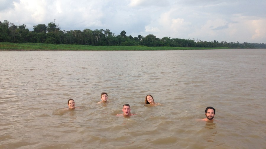 Swimming in the Amazon