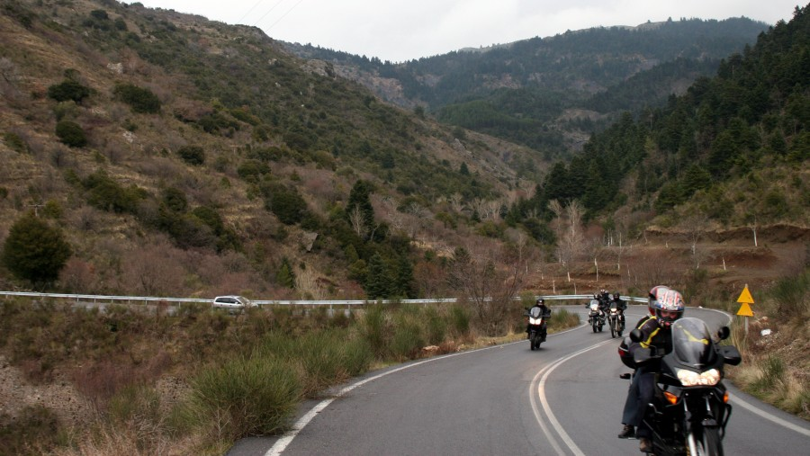 moto round guided tour Peloponnese