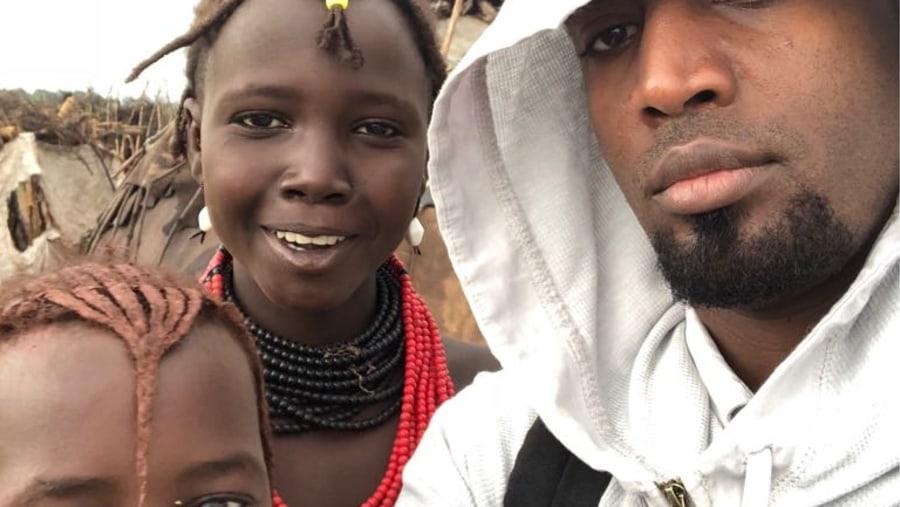 Selfie with locals @Dassenech village, Omorate
