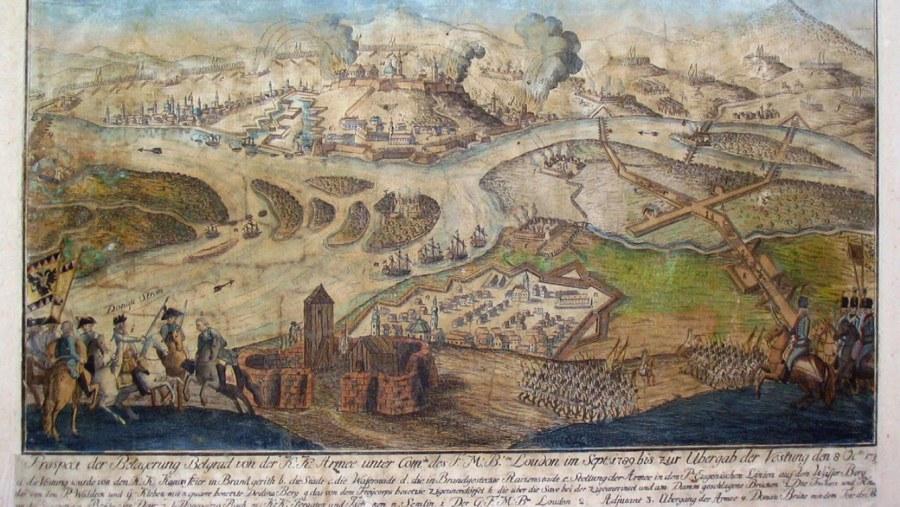 Austrian Siege plan on Belgrade 1783.