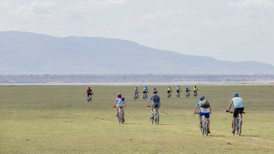 Biking tour around lake Manyara National Park