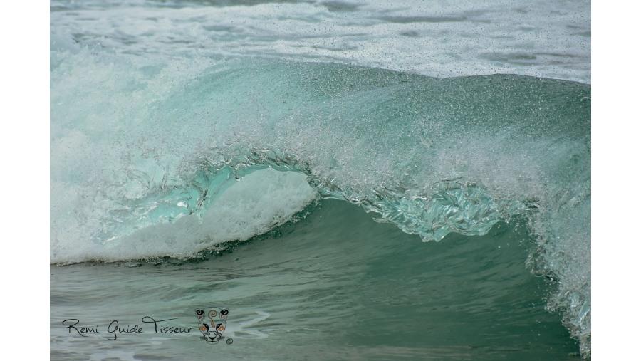 Pacific waves on a secret beach