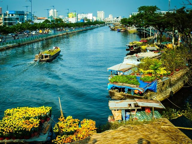 Binh Dong Floating Flower Market.Binh Dong Market Tours Ho Chi Minh City Tours Touriocity Com