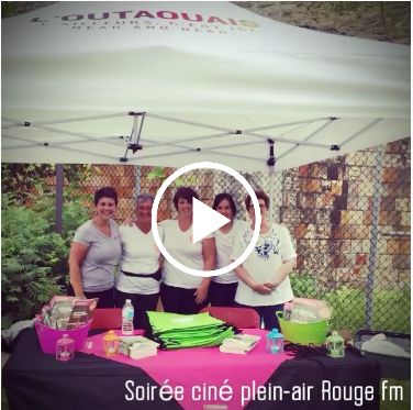 video soirée ciné plein air Rouge fm