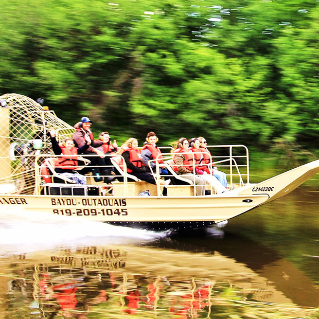 Bayou Outaouais - airboat tours