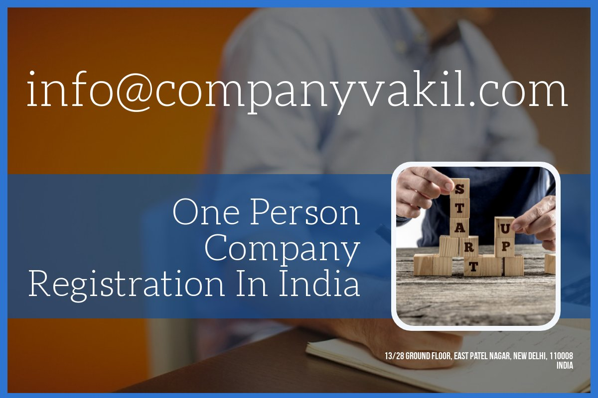 One Person Company Registration Online