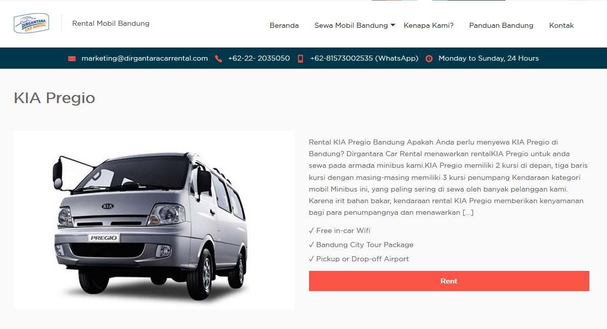 Rental Mobil Bandung Jakarta