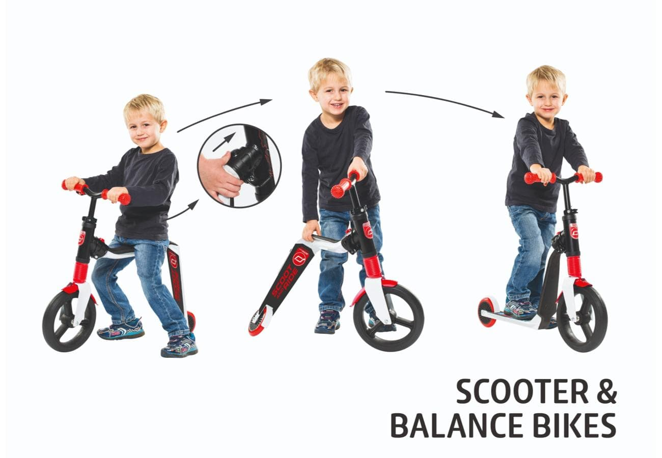 transformed picture of the Highway freak 2in1 scooter balance bike