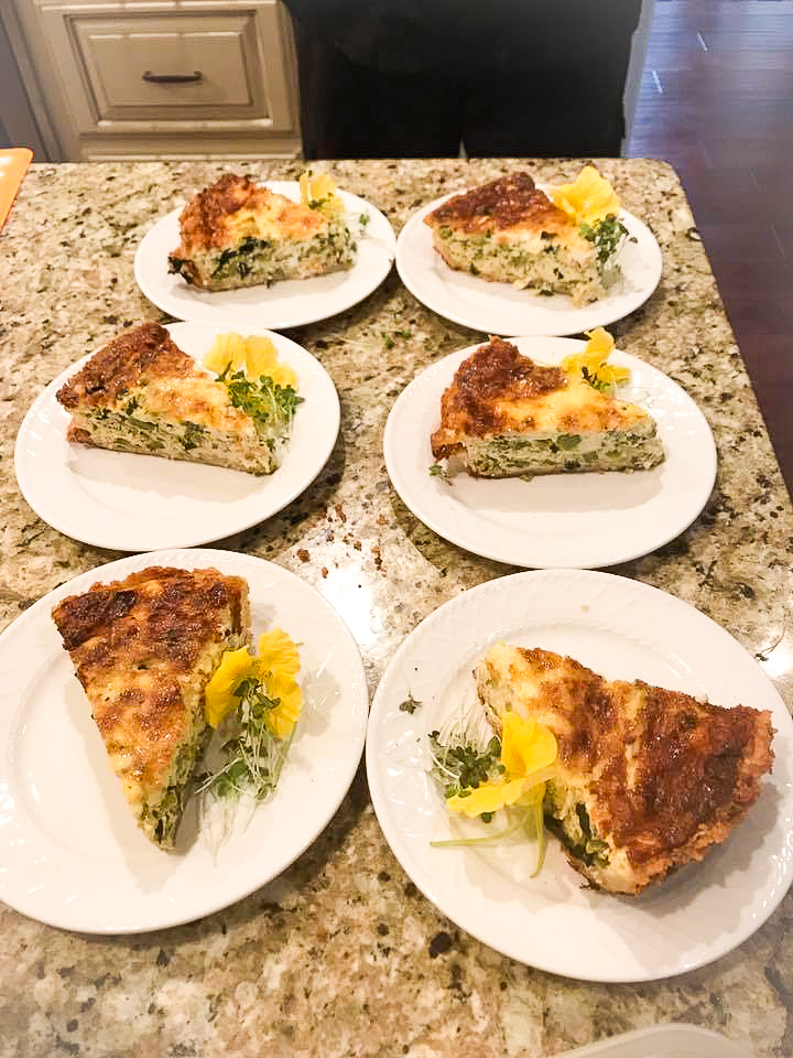 table of quiche