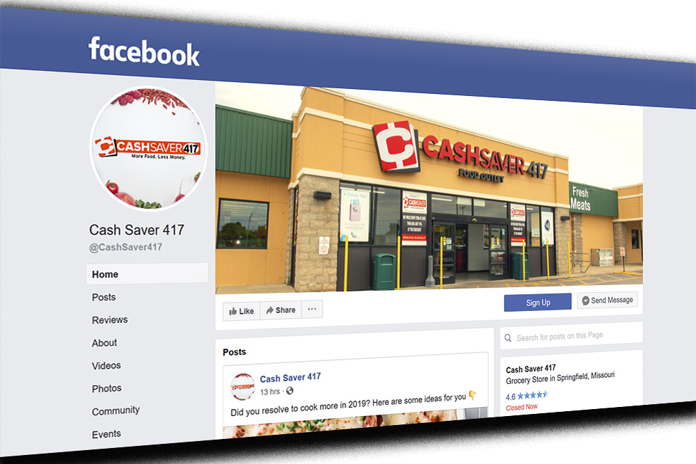 cash saver 417 facebook page