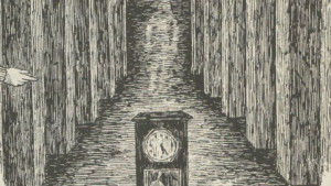 House with clock f72b712e