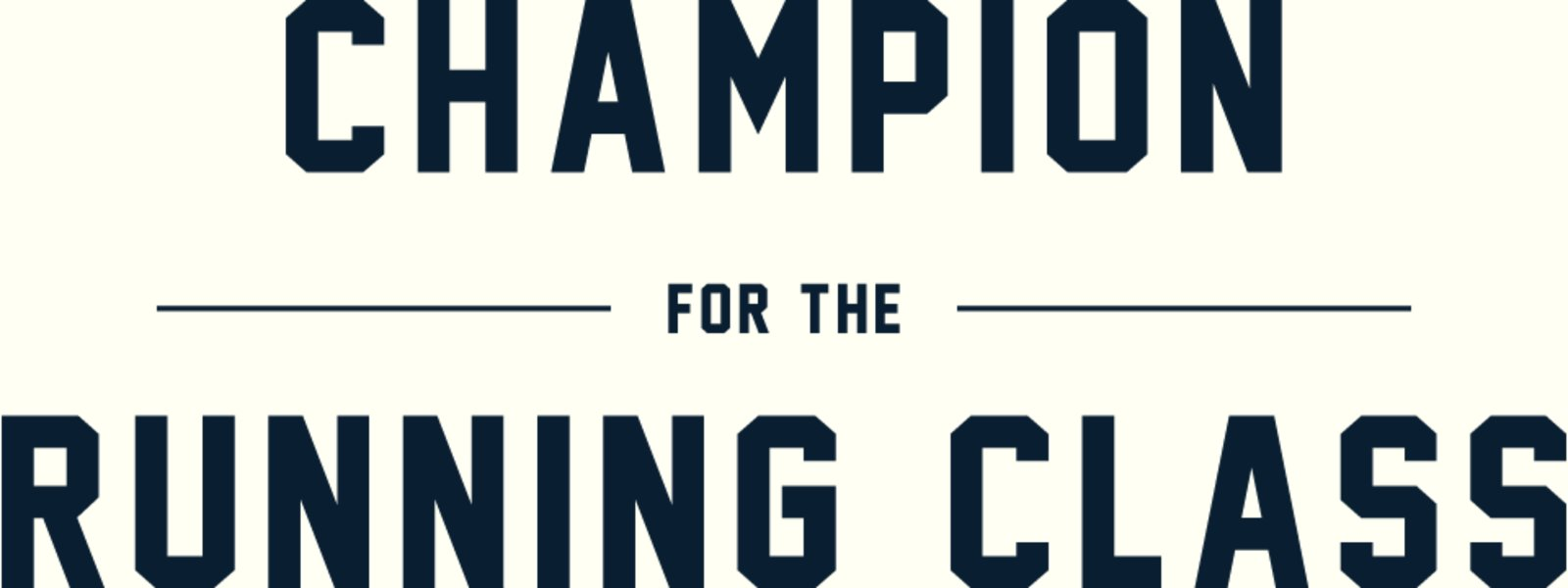 Champion for the running class