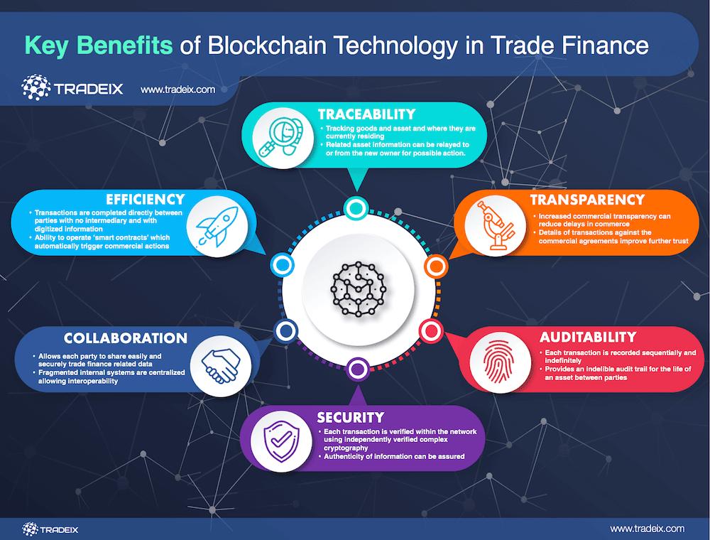 key benefits blockchain infographic