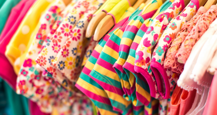 Wardrobe with baby clothes