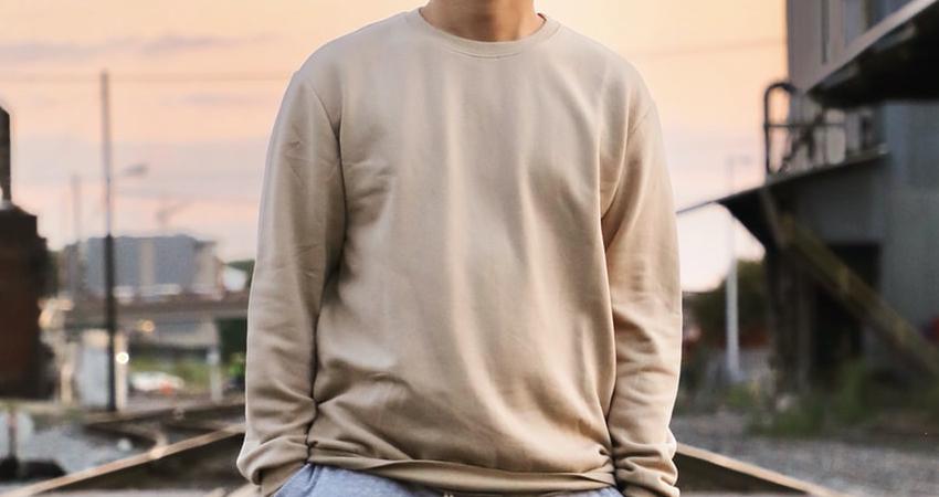 Beige sweater for men
