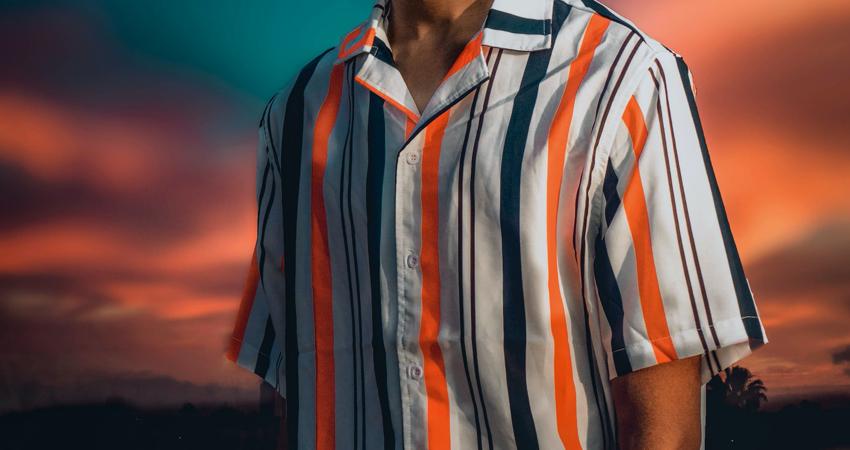 Cuban collar shirt for men