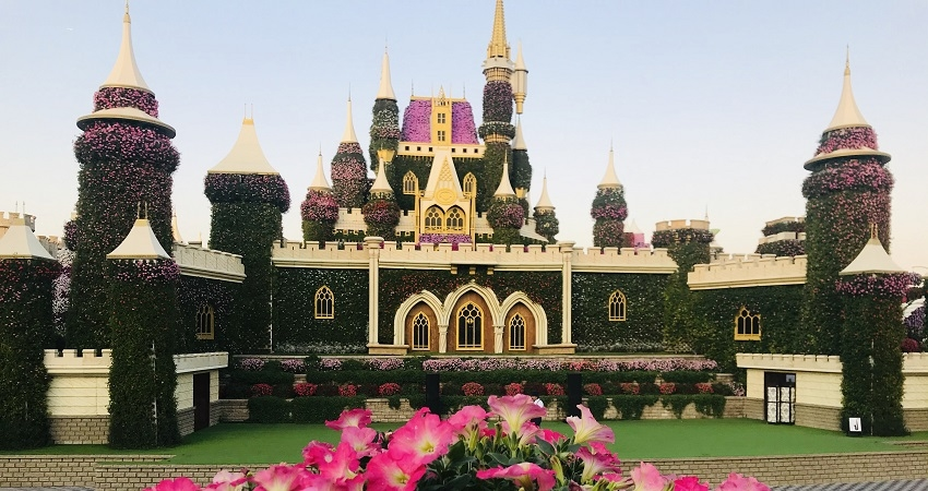 Flower Castle at Miracle Garden