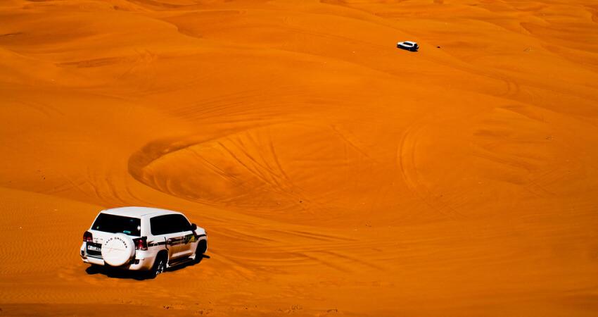 Dune Bashing at Desert Safari