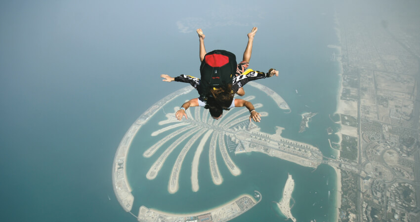Dubai Sky Dive at Palm