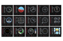Logitech Flight Instrument Panel Professional Simulation LCD Multi Ins With Free Gift
