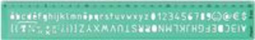Maped lettersjabloon, 8 mm