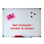 Whiteboard 90x120cm set