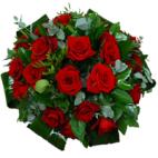 Rouwbiedermeier rode rozen
