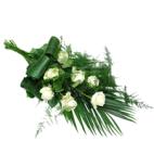 Rouwboeket witte rozen