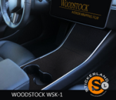 Tesla Model 3 Console stickerset Matte Black