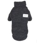 Gebreide trui zwarte voor de hond