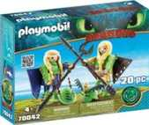 Playmobil Dragons Schorrie en Morrie in vliegpak 70042