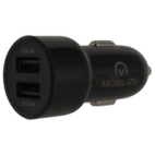 Mobilize Autolader 2 x USB 4800mA Snellader MOBCC018