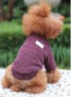 Gebreide trui paars voor de hond